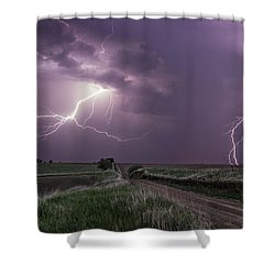 Road To Nowhere - Lightning Shower Curtain