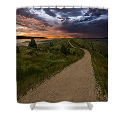 Road To Nowhere - Stormy Little Bend Shower Curtain