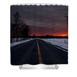 Road To Success Shower Curtain by Cheryl Baxter