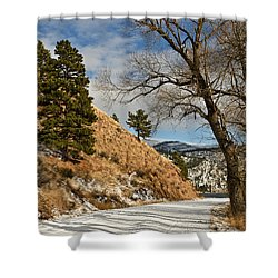 Shower Curtain featuring the photograph Road To The Lake by Sue Smith