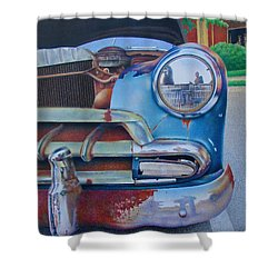 Road Warrior Shower Curtain by Pamela Clements