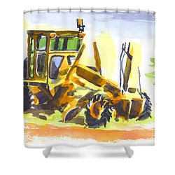 Roadmaster Tractor In Watercolor Shower Curtain