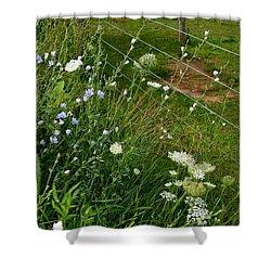 Roadside Wildflowers Shower Curtain