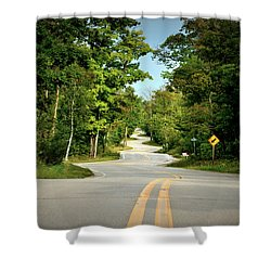 Roadway Slalom Shower Curtain