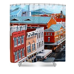 Roanoke City Market Shower Curtain by Todd Bandy
