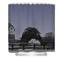 Roanoke Virginia Springtime Cityscape Bw Shower Curtain