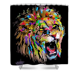 Shower Curtain featuring the digital art Roar by Anthony Mwangi