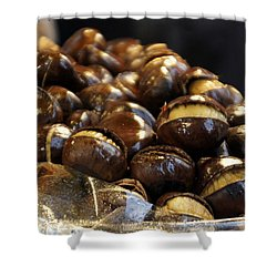 Shower Curtain featuring the photograph Roasted Chestnuts by Lilliana Mendez