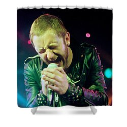 Rob Halford Of Judas Priest Without Flames Effect- Warfield Theater During British Steel-unreleased  Shower Curtain