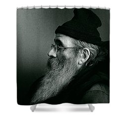 Rob Profile Redux Duotone Shower Curtain