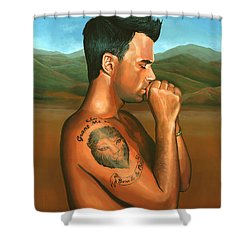 Robbie Williams 2 Shower Curtain by Paul Meijering