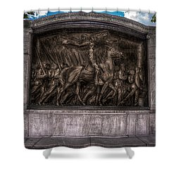 Robert Gould Shaw Memorial On Boston Common Shower Curtain