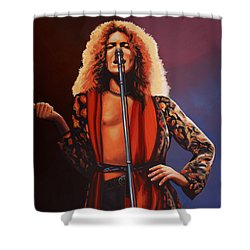 Robert Plant Of Led Zeppelin Shower Curtain by Paul Meijering