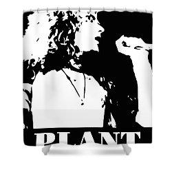 Robert Plant Black And White Pop Art Shower Curtain by David G Paul