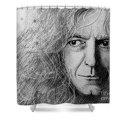 Robert Plant Shower Curtain by Patrice Torrillo