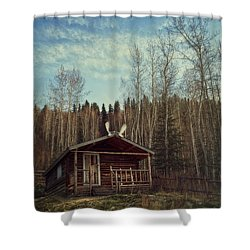 Robert Service Cabin Shower Curtain by Priska Wettstein