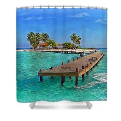 Robinson Island Shower Curtain