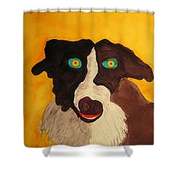Shower Curtain featuring the painting The Storyteller by Rand Swift