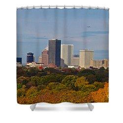 Rochester Skyline Shower Curtain by William Norton