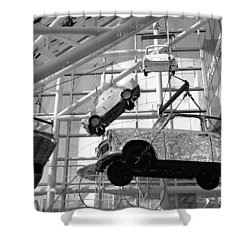 Rock And Roll Cars Shower Curtain by Jenny Hudson