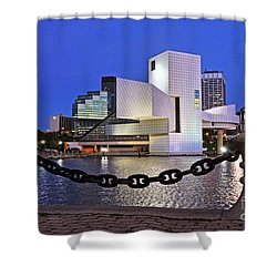 Shower Curtain featuring the photograph Rock And Roll Hall Of Fame - Cleveland Ohio - 1 by Mark Madere