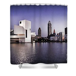 Shower Curtain featuring the photograph Rock And Roll Hall Of Fame - Cleveland Ohio - 2 by Mark Madere