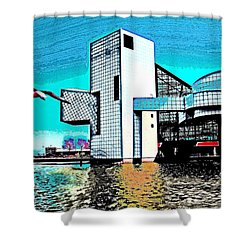 Shower Curtain featuring the photograph Rock And Roll Hall Of Fame - Cleveland Ohio - 4 by Mark Madere