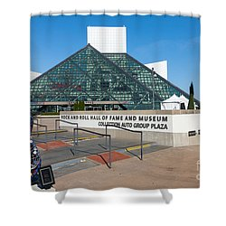 Rock And Roll Hall Of Fame IIi Shower Curtain by Clarence Holmes