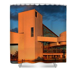 Rock And Roll Hall Of Fame Shower Curtain by Jerry Fornarotto