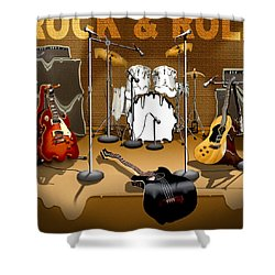 Rock And Roll Meltdown Shower Curtain