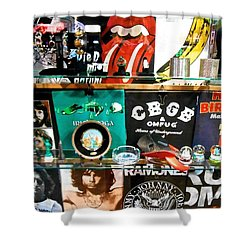 Rock And Roll On St. Marks   Nyc Shower Curtain