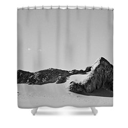 Rock And Sand Shower Curtain by Lana Enderle