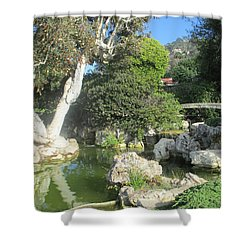 Stone Bridge Pond Shower Curtain