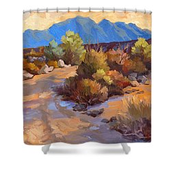 Rock Cairn At La Quinta Cove Shower Curtain