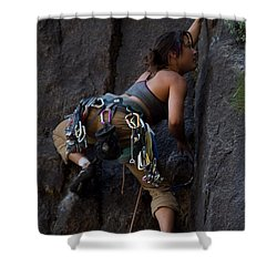 Shower Curtain featuring the photograph Rock Climbing by Brian Williamson