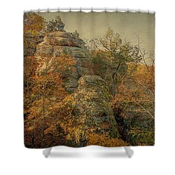 Rock Formation Shower Curtain by Sandy Keeton