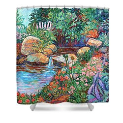 Rock Garden Shower Curtain by Kendall Kessler