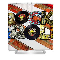 Rock N Roll Is Here To Stay Shower Curtain