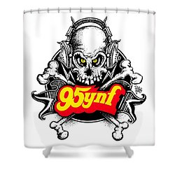 Rock 'n Roll Pirates Shower Curtain by Scott Ross