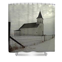 Rock Of Ages In North Dakota Shower Curtain by Jeff Swan