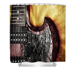 Rock On Gibson  Shower Curtain by Aaron Berg