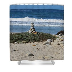 Rock Sculpture 2 Shower Curtain by Bev Conover