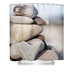 Rock Solid Love Shower Curtain by Anne Gilbert
