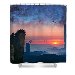 Rock Towers Shower Curtain