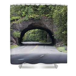 Rock Tunnel On Kelly Drive Shower Curtain by Bill Cannon
