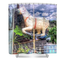 Rockey's Horse Shower Curtain