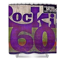 Rocking Sixties Music Shower Curtain by Janice Rae Pariza