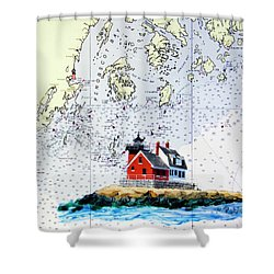 Rockland Breakwater Light Shower Curtain by Mike Robles