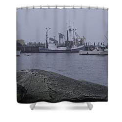 Shower Curtain featuring the photograph Rockland Me by Daniel Hebard