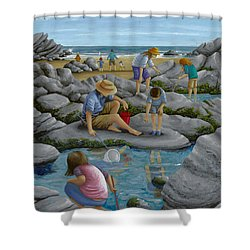 Rockpooling Shower Curtain by Peter Adderley